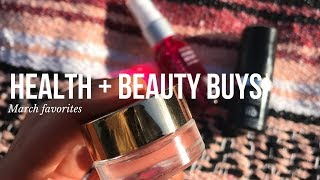 MARCH FAVES: healthy snacks + beauty buys