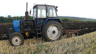 Первая пахота на ЮМЗ-6КЛ.  Готовимся к посеву пшеницы.