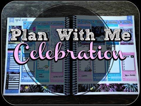 PWM (Plan With Me) | Celebration - April 23rd - 29th 2018 | Blackbird Print Co