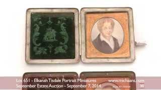 Elkanah Tisdale Portrait Miniatures