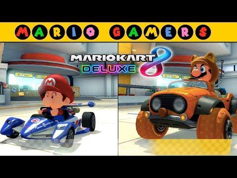 Mario Kart 8 Deluxe - Multiplayer - Baby Mario vs Tanooki Mario (Star Cup 50cc)