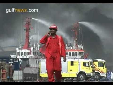 Massive fire at Sharjah Port