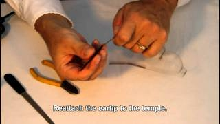How to Shorten the Temple on a Metal Frame. Eyewear Repairs Made Easy.