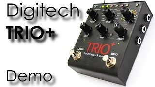 Digitech Trio+ Bandcreator with Looper - Demo