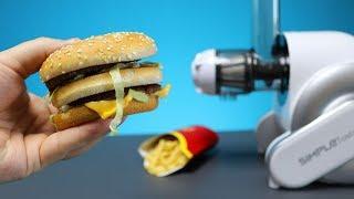 Was passiert wenn man einen Big Mac von McDonalds in einen Entsafter schmeißt?
