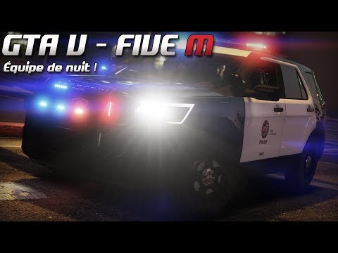 GTA 5 - Law Enforcement Live - Équipe de nuit ! (Five M)
