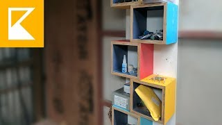 Plywood Cubes Shelves - Easy DIY Project