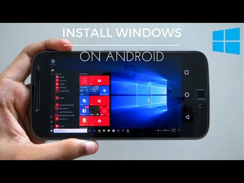 How To Install & Run Windows 10/8/7/XP On Android Phone NO ROOT 2017
