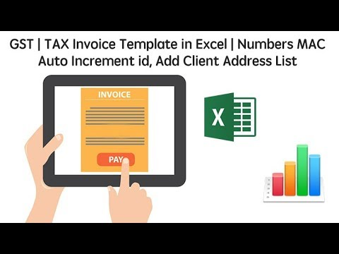 GST Tax Invoice Template In Excel Numbers MAC Auto Increment Id - Invoice template numbers mac