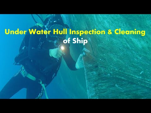 Under Water Hull Inspection and Cleaning of Ship | How Hull Cleaning of a Big Ship is Done