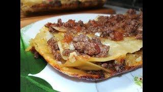 Лазанья с мясным соусом - Lasagne with meat sauce.