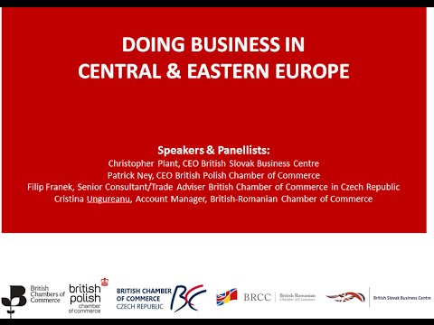BCC Webinar Series: Doing business in Central & Eastern Europe