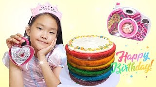 rainbow cake eating MUKBANG | Fantastic candy eating show 무지개 케이크 키즈 먹방 놀이