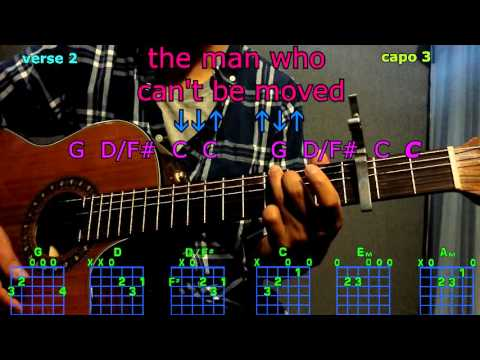 the man who can't be moved the script guitar chords