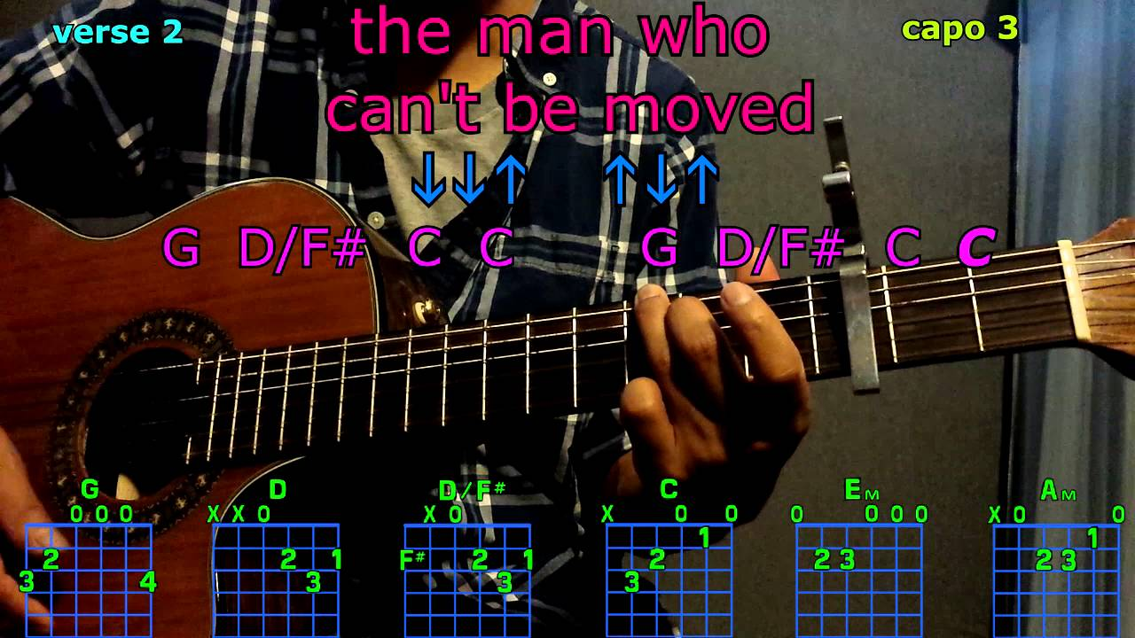 The Man Who Cant Be Moved The Script Guitar Chords