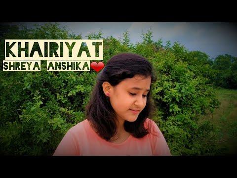 khairiyat--chhichhore-|-sushant-singh-rajput-|-arijit-singh-|-female-version-by-shreya-anshika