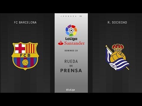 Rueda de prensa FC Barcelona vs R. Sociedad