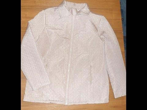 Как пришить подклад к куртке