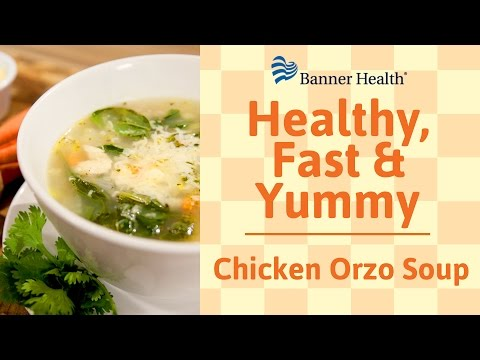Chicken Orzo Soup: Healthy, Fast And Yummy