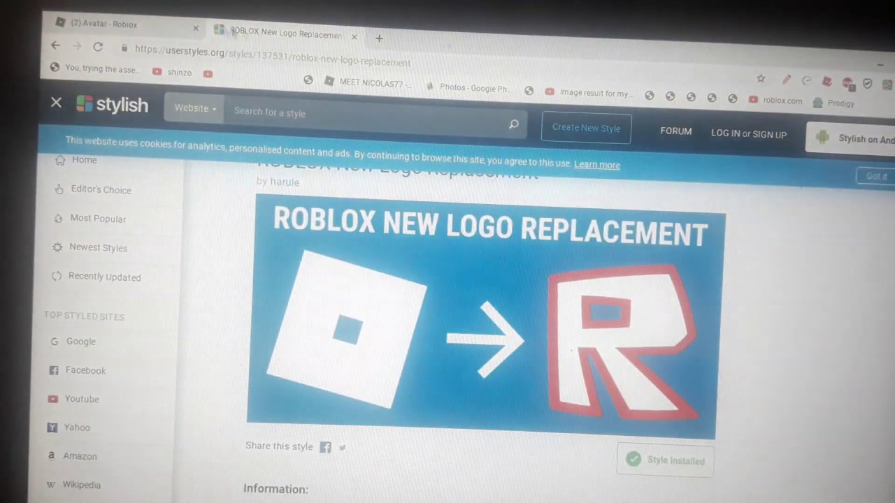 C Logo Roblox - How To Change Roblox Logo Into Old Roblox Logo Youtube