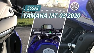 Essai Yamaha MT-03 2020