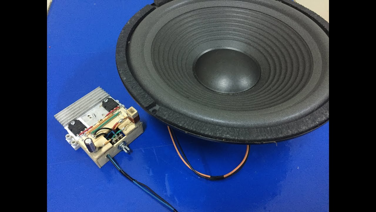 Diy Ultra Bass Amplifier With Dou B688 And D718 Transistor