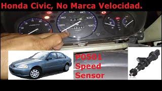Tablero no Marca Velocidad P0501 Honda Civi 99
