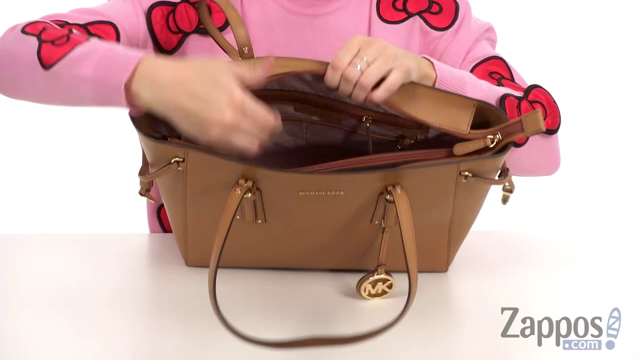 4b46bc2cd36506 MICHAEL Michael Kors Voyager Medium Top Zip Tote SKU: 9018409 - YouTube