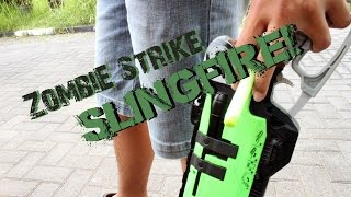 NERF ZOMBIE STRIKE SLINGFIRE ACTION!