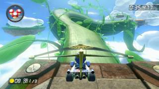 Cloudtop Cruise - 1:56.662 - • • (Mario Kart 8 World Record)