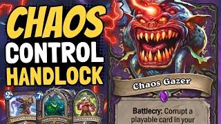 CORRUPT THEIR CARDS!! Chaos Gazer Handlock Destroys Dreams! | Galakrond's Awakening | Hearthstone
