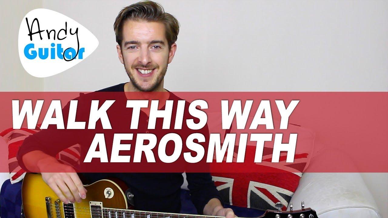 Aerosmith Walk This Way Guitar Lesson Electric Guitar Tutorial