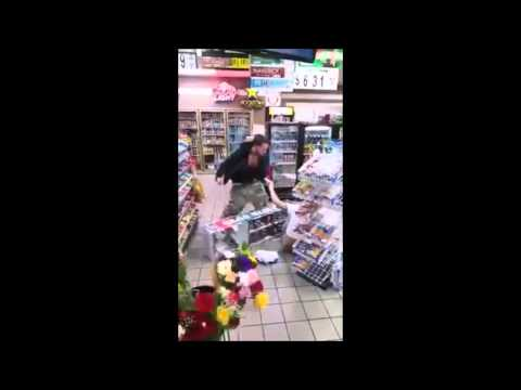 Scuffle in Petrol Station Has an Epic Violent Ending