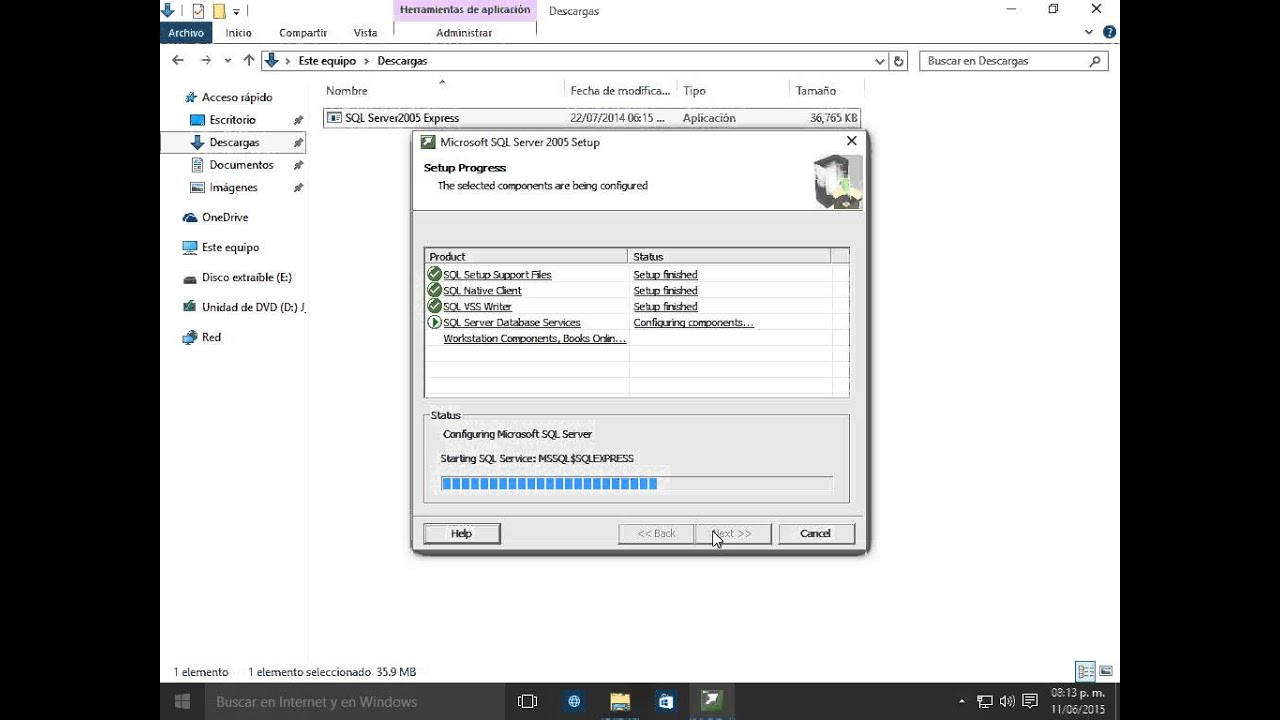 Installing ms sql server 2005/2008/2012 express edition as a host.
