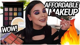 Full Face Using Only AFFORDABLE MAKEUP PRODUCTS: full glam makeup tutorial! | MakeupByAmarie