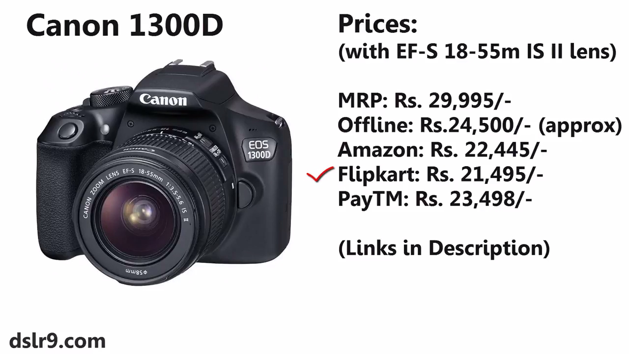 Canon 1300D Price in India