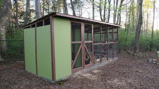Walk-In Chicken Coop and run designed for 12 hens