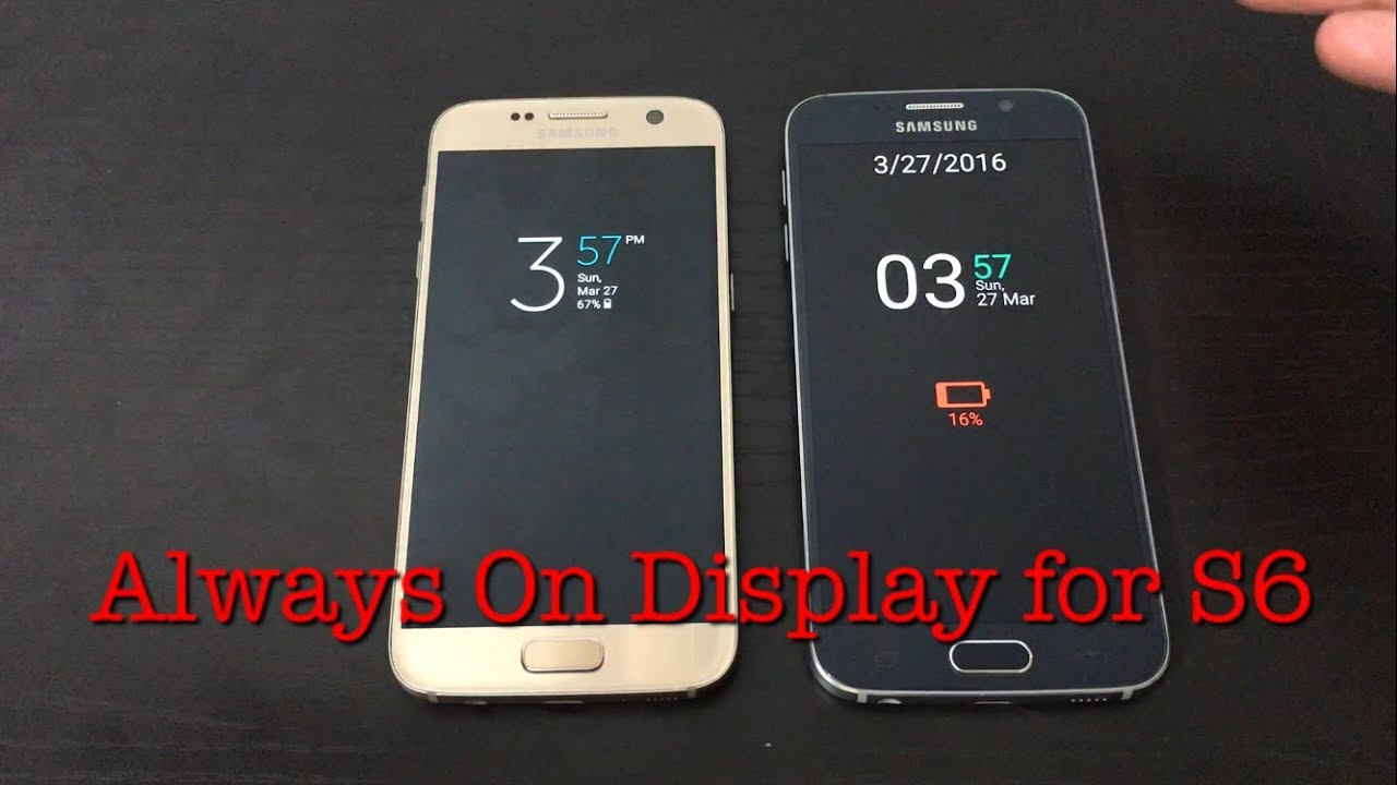 always on display feature for samsung galaxy s6 amp s6 edge   youtube