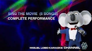 [KARAOKE Mini Concert] Mr Moon's concert - 5 themes (SING Movie Soundtrack)