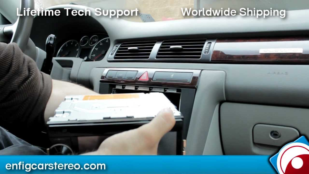 How To Install 02 05 Audi A6 Radio Double Din Youtube 08 A4 Satellite Wiring Diagram