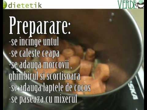 Supa de morcov cu ghimbir