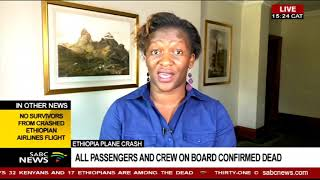 UPDATE: Ethiopian airline crash