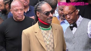 Dr. Dre, Snoop Dogg & Warren G Arrive To Snoop's Hollywood Walk Of Fame Ceremony 11.19.18