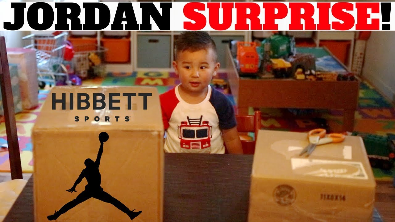 ef46f05cba8547 SURPRISE JORDAN SNEAKERS For The FAMILY From HIBBETT SPORTS! - YouTube