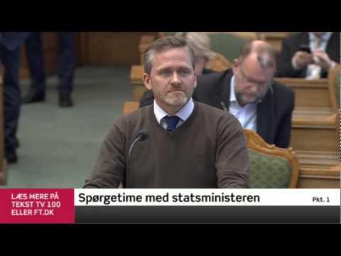 Anders Samuelsen Statsministerens Spørgetime 13.01.2015