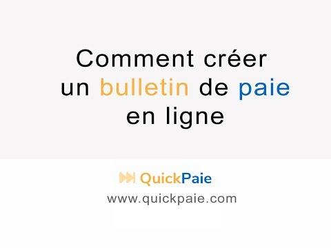 Créer un bulletin de paie en ligne rapidement et facilement - QuickPaie