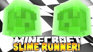 Minecraft - SLIME RUNNER! (Epic Slime Parkour Jumps) w/Preston, Pete & Kenny!