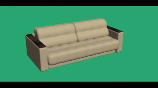 Моделирование дивана в 3DS Max 2016. Гостиная (Урок №3)