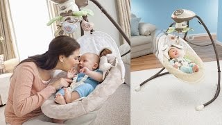 Fisher Price Snugabunny Cradle 'n Swing For Baby Features Fisher Price Smart Swing Technology