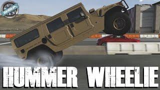 2006 hummer h1 alpha    92psi 1 500ft lb wheelie drag build    forza 6